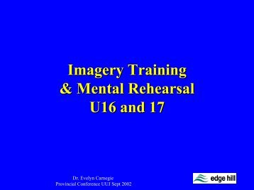Imagery Training and Mental Rehersal - Ulster GAA
