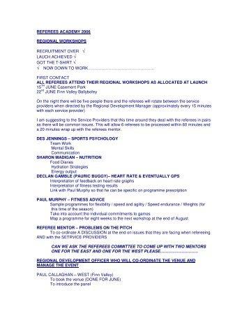 8 Week Programme - Ulster GAA