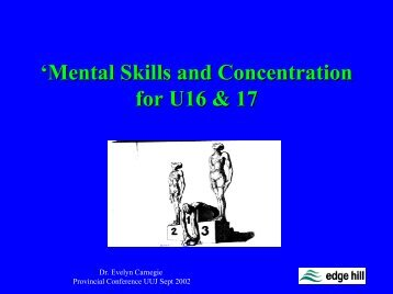 Mental Skills and Concentration - Ulster GAA