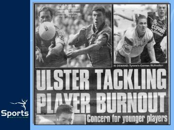 Player Burnout 2 - Ulster GAA