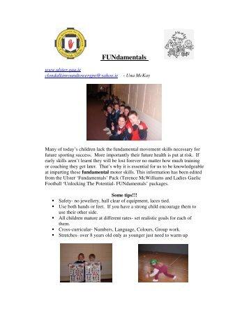 FUNdamentals Nursery Ideas - Ulster GAA