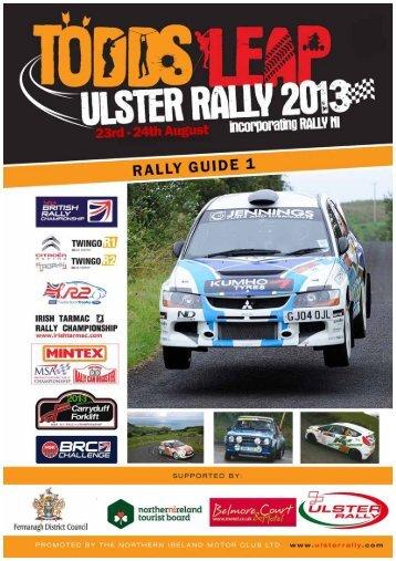 2013 Rally Guide 1 - Ulster Rally