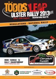 Download Ulster National Rally Regulations - Ulster Rally