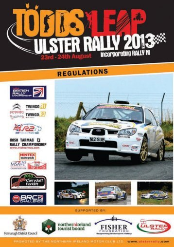 Download Ulster Rally Regulations