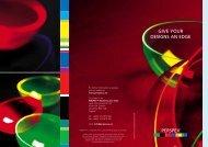 Perspex® Fluorescent colour chart - Ultimate Handyman