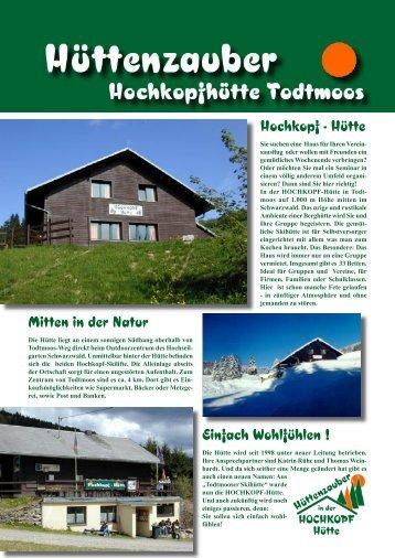 Einfach Wohlfühlen ! Hochkopf - Hütte Mitten in der Natur