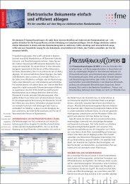 Elektronische Dokumente einfach und effizient ablegen - fme AG