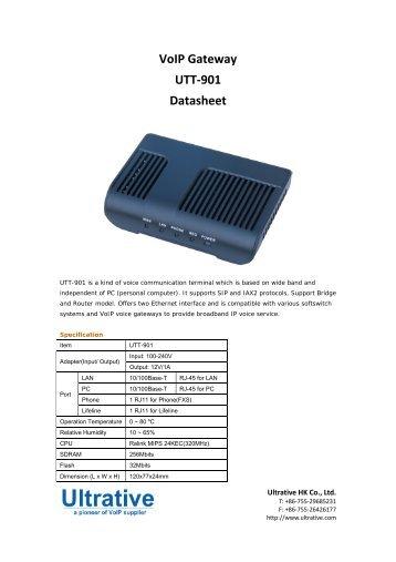 VoIP Gateway UTT-901 Datasheet - Ultrative