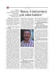 YÖK Yürütme Kurulu Üyesi Prof. Dr. Atilla Eriş ile röportaj
