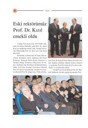 Eski Rektörümüz Prof.Dr. Kızıl Emekli Oldu