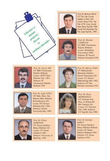 Yükselen ve Atananlar - Uludağ Üniversitesi