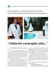 Üniversitemizin Eski Rektörü Prof.Dr.Ayhan Kızıl'la Röportaj