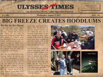 BIG FREEZE CREATES HOODLUMS - Ulysses SA