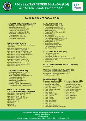Brosur UM 2012 - Universitas Negeri Malang