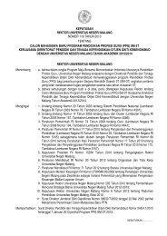 keputusan rektor universitas negeri malang nomor 118 tahun 2013 ...