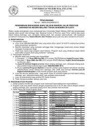 Jalur Prestasi - Universitas Negeri Malang