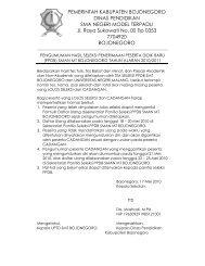 Hasil Seleksi Penerimaan Peserta Didik Baru SMAN MT Bojonegoro ...