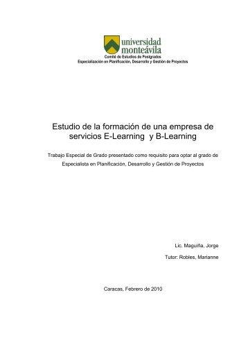 Estudio de la formaci—n de una empresa de servicios E-Learning y ...
