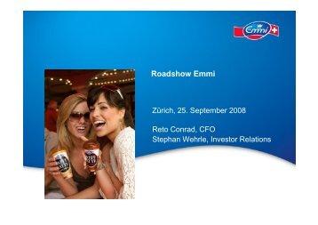 Präsentation Roadshow Zürich - Emmi