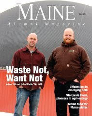 Waste Not, Want Not - the University of Maine Alumni Association