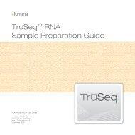 TruSeq™ RNA Sample Preparation Guide - USC Epigenome Center