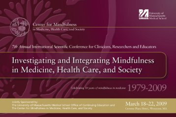 conference brochure - University of Massachusetts Medical School