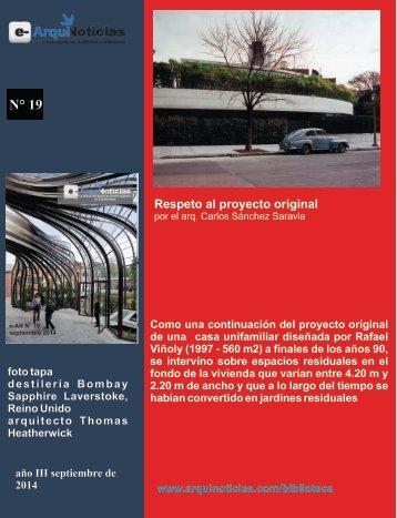 e.AN N° 19 nota N° 4 Respeto al proyecto original por el arq. Carlos Sánchez Saravia