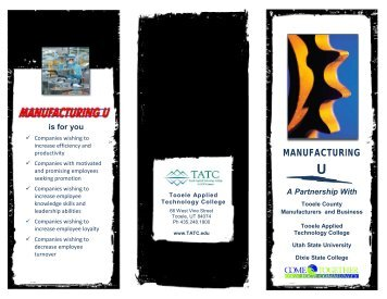 MANUFACTURING - Utah Manufacturers Association