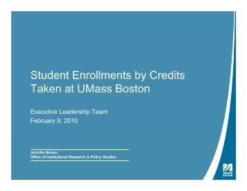 Student Enrollment by Credits by Credits Taken, 02/10