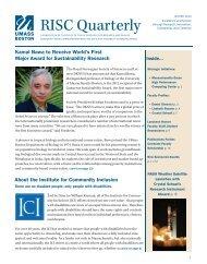 Winter 2012 Version 2 RISC Quarterly Final.indd - University of ...