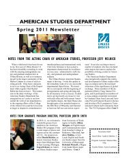 2011 Newsletter - University of Massachusetts Boston