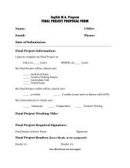 FINAL PROJECT PROPOSAL FORM