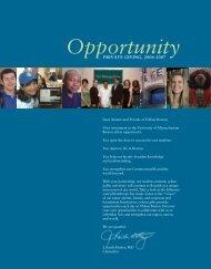 Opportunity (.pdf) - University of Massachusetts Boston