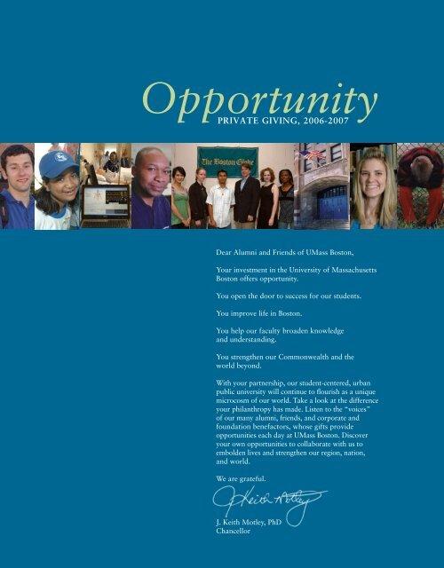 Opportunity Pdf University Of Massachusetts Boston