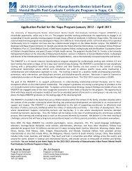 Infant-Parent Mental Health Fellowship Program - University of ...