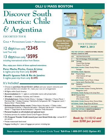 Discover South America: Chile & Argentina