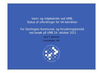 UMBs satsing på vann- og miljøteknikk