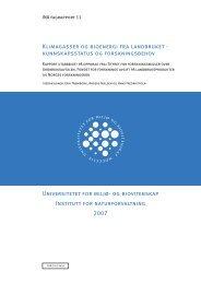 Klimagasser og bioenergi fra landbruket - UMB