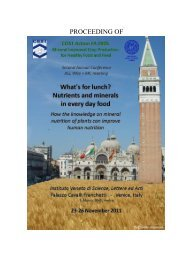 Book with abstracts from the COST Action 0905 meeting in ... - UMB