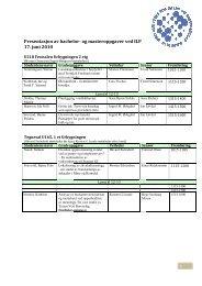 Program for presentasjon av bachelor - UMB