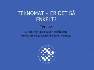 TEKNOMAT – ER DET SÅ ENKELT? - UMB