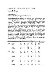 Variasjon i fôrverdi av norsk korn til slaktekylling - UMB