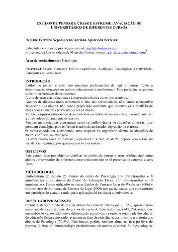 Regiane Ferreira Nepomuceno (Psicologia) - UMC