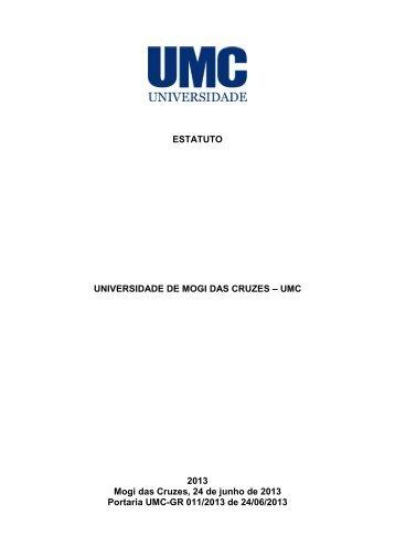 ESTATUTO UNIVERSIDADE DE MOGI DAS CRUZES – UMC 2013 ...