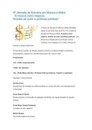 """4ª Jornada de Estudos em Música e Mídia """"A música como ... - UMC"""