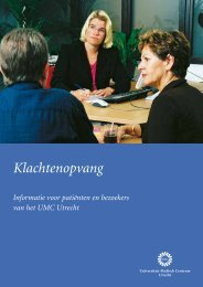 Folder Klachtenopvang - UMC Utrecht