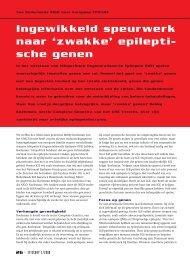 Artikel Episcoop - UMC Utrecht
