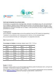 Factsheet Palliatieve Zorg Post-hbo sept 2013-2014 - UMC Utrecht