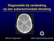Diagnostiek bij verdenking op een subarachnoïdale ... - UMC Utrecht