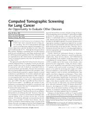 Computed Tomographic Screening for Lung Cancer - UMC Utrecht